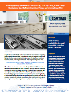 Comtrad case study on cabinet manufacturer