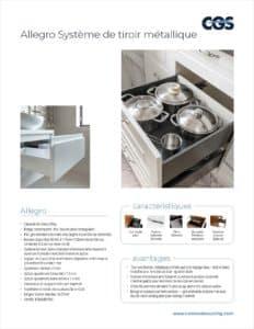 Allegro Système de tiroir métallique