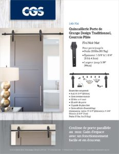 CGS Ensemble Porte de Grange (Barn Door Hardware Kit) (FRENCH-20200226)